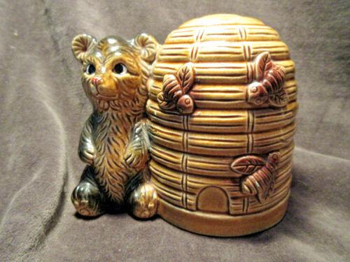 Vintage Honey Bear and Beehive Coin Bank Japan CA