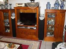 3 piece wall unit solid timber Marsden Logan Area Preview