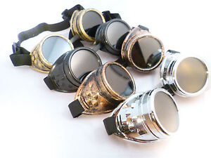 CYBER-STEAMPUNK-GLASSES-SUNGLASSES-WELDING-GOTH-COSPLAY-RETRO-VINTAGE-RUSTIC