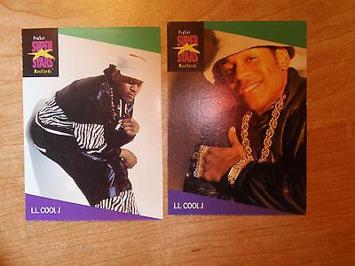L L Cool J 2 US ProSet Super Stars MusiCards: #129 & #130