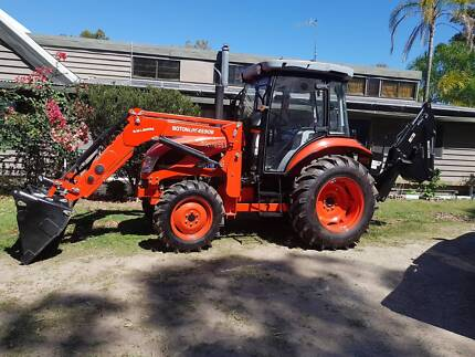 Tractor New 65hp AC Cabin Front End Loader Backhoe& Rotary Hoe Nerang Gold Coast West Preview