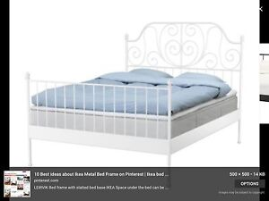 IKEA white metal queen bed Thornlands Redland Area Preview