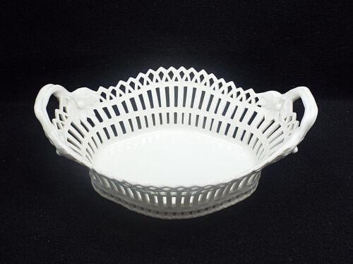 Antique Berlin KPM Porcelain Reticulated Fruit & Pastry Bowl Basket