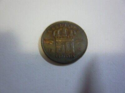 50 centimes belgique pièce - belgie munt 1976