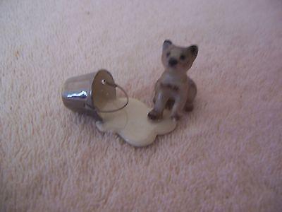 Border Terrier Miniature  Figurine No Sense Crying Over Spilt Milk Needs Repair
