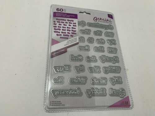 Crafters Companion Gemini Traditional Words 60 Pc Die Set