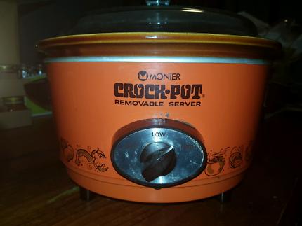 Vintage Monier Crock Pot, Retro Orange