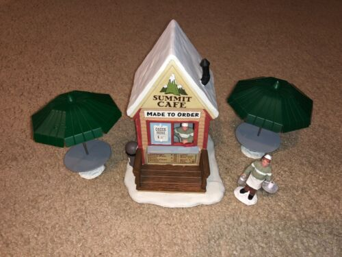 Summit Cafe 2010 Lemax Village Collection Table Accent *RARE/RETIRED!*