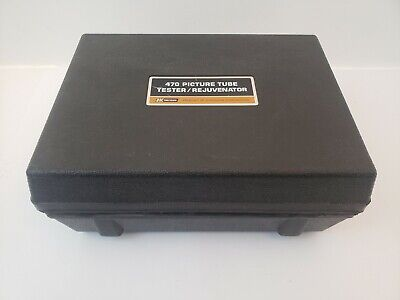 Dynascan Bk Precision 470 Crt Tube Tester Rejuvenator Adapters As Is