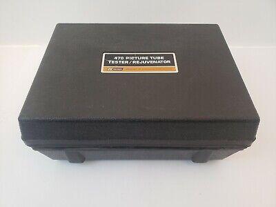 Dynascan Bk Precision 470 Crt Tube Tester Rejuvenator Adapters As Is