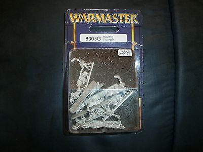 Warhammer WARMASTER Chaos HOUNDS metal SUPER rare BLISTER  8205G