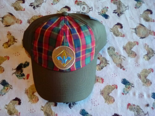 Cub Webelos Boy Scouts of America BSA Hat Plaid Green, Flex Fit, Size M/L