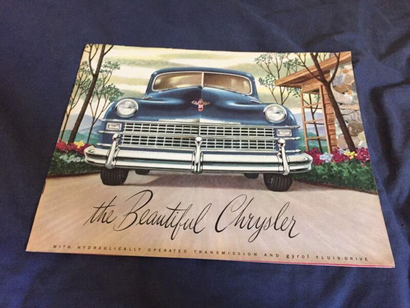 1946 1947 1948 Chrysler New Yorker Saratoga Windsor Catalog Brochure Prospekt