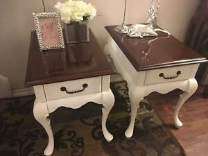 Gorgeous Antique French Provincial Shabby Chic Night/End Tables
