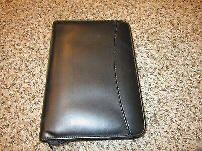 Day Runner Black Leather-like Planner Detachable 6-ring Binder 3.75x6.75