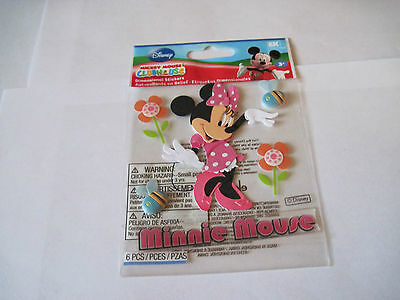 Scrapbooking Stickers Disney Minnie Mouse Pink Bees Flowers Title Dimensional ()