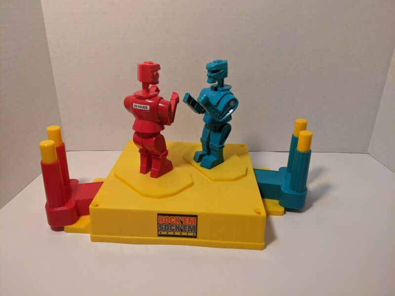 MATTEL ROCKEM SOCKEM ROBOTS BLUE BOMBER RED ROCKER GAME