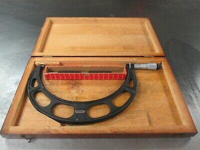 Used Starrett 9-10 436 Outside Micrometer W 9 Standard Wooden Box