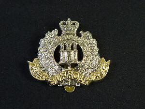 Suffolk Regiment QC cap badge