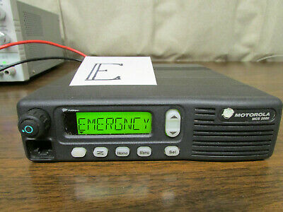 E - Motorola Mcs 2000 Mobile Radio 800mhz Uhf 250 Channels M01hx812w As-is