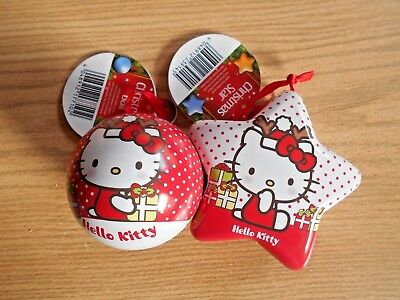 2x  Baumhänger von Hello Kitty mit Schokolade gefüllt Deko - Weihnachten - NEU Hello Kitty Weihnachten
