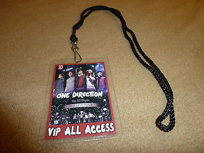 One Direction 1D Up All Night Tour Vip All Access Backstage Pass   Lanyard Harry