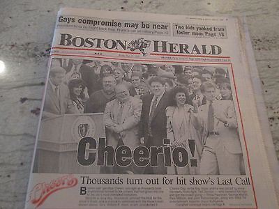 """CHEERS-TV SHOW-""""""""THE FINAL NIGHT""""-MAY 20,1993-W/ JAY LENO IN BOSTON-TONIGHT SHOW"""