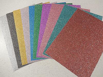 "Jittenmeier: 10x selbstklebendes Glitterpapier ""verschiedene Farben"" DIN A5"
