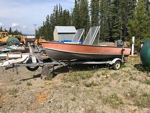 16' Aluminum Boat w/40 HP Suzuki
