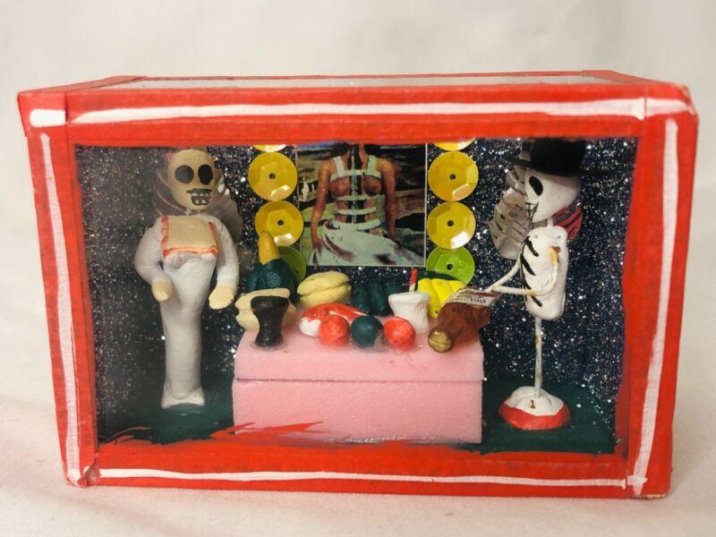 Shadow Box Day of the Dead Altar de Muertos Nicho Box Mexican Handmade Folk Art