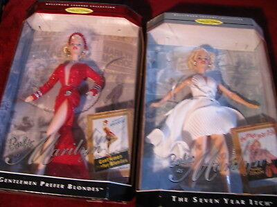 Marilyn Monroe Barbie Gentlemen Prefer Blondes & 7 Year Itch Hollywood Legends