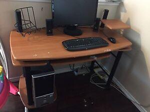 Desktop and desk