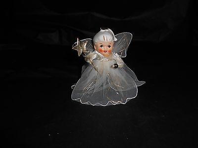 Vintage Holt Howard Christmas Angel Porcelain Head with Tulle Body