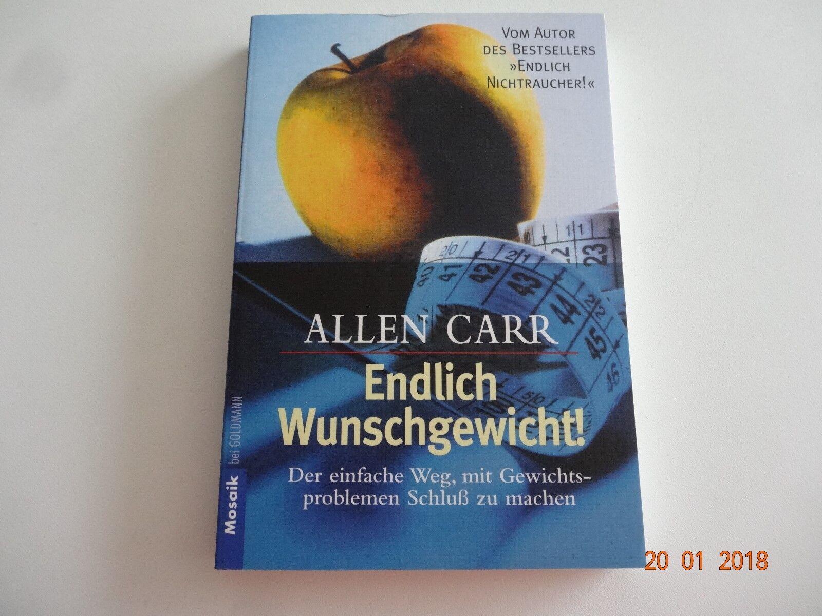 """Buch""""Endlich Wunschgewicht! """"von Allen Carr,abnehmen,Diät,lesen,Ernährung,Bücher"""