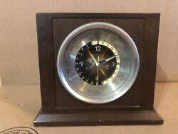 Bulova World Time Zone Walnut Desk Mantle Clock - Mid-Century Modern Used