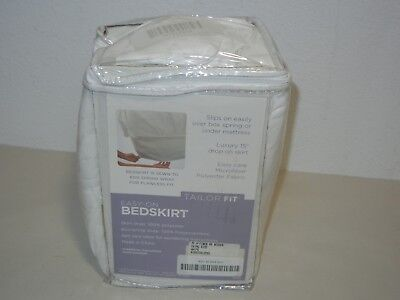 PERFECT FIT EASY ON BEDSKIRT & BOX SPRING PROTECTOR CAL.KING WHITE