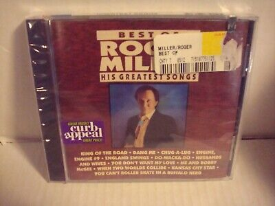 Best Of Roger Miller His Greatest Songs (1991 Curb Records CD) BRAND