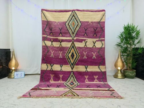 Moroccan Vintage Boujaad Handmade Wool Rug 5