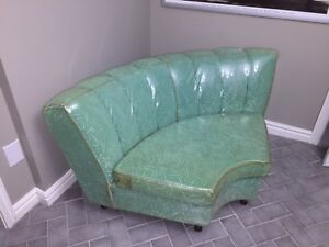 Vintage 1950s or 1960s Green corner chair couch sofa
