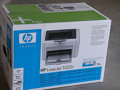 Brand New HP LaserJet 1022n Monochrome Network Laser Printer Better Than