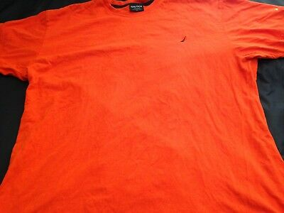 Nautica 83 Boat/Sailing Parts of Boat Graphic Mens T-Shirt Competition Orange XL