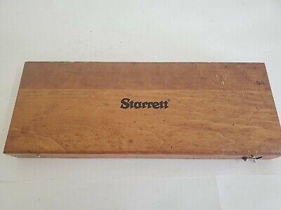 Starrett Depth Micrometer Wooden Case Only No Micrometer