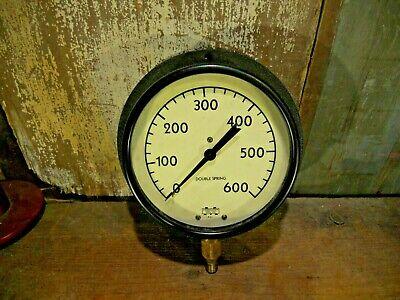 Marshalltown Pressure Gauge Industrial Sa. 600 Lbs Large 7 12 Inch Steampunk