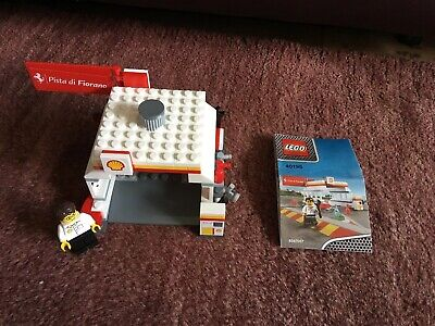 Lego Racers - Shell Station 40195 With Minifigure & Instructions 100% Complete