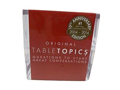Original Table Topics 10th Anniversary Edition Conversation Starter BRAND NEW!