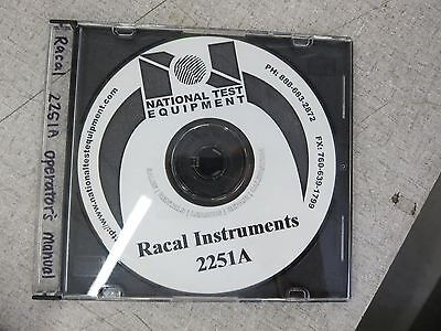 Racal Instruments 2251a Universal Timer Counter Operators Manual Cd 980789