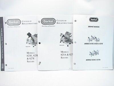 Berkel 823e 825e 827e 825a 827a Slicer Service Manual Replacement Parts