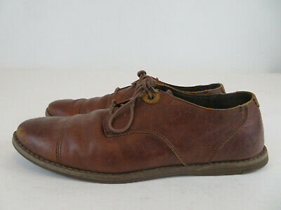 Timberland Men's Revenia 3 Eye Oxford Brown Leather Shoes US Size 8.5