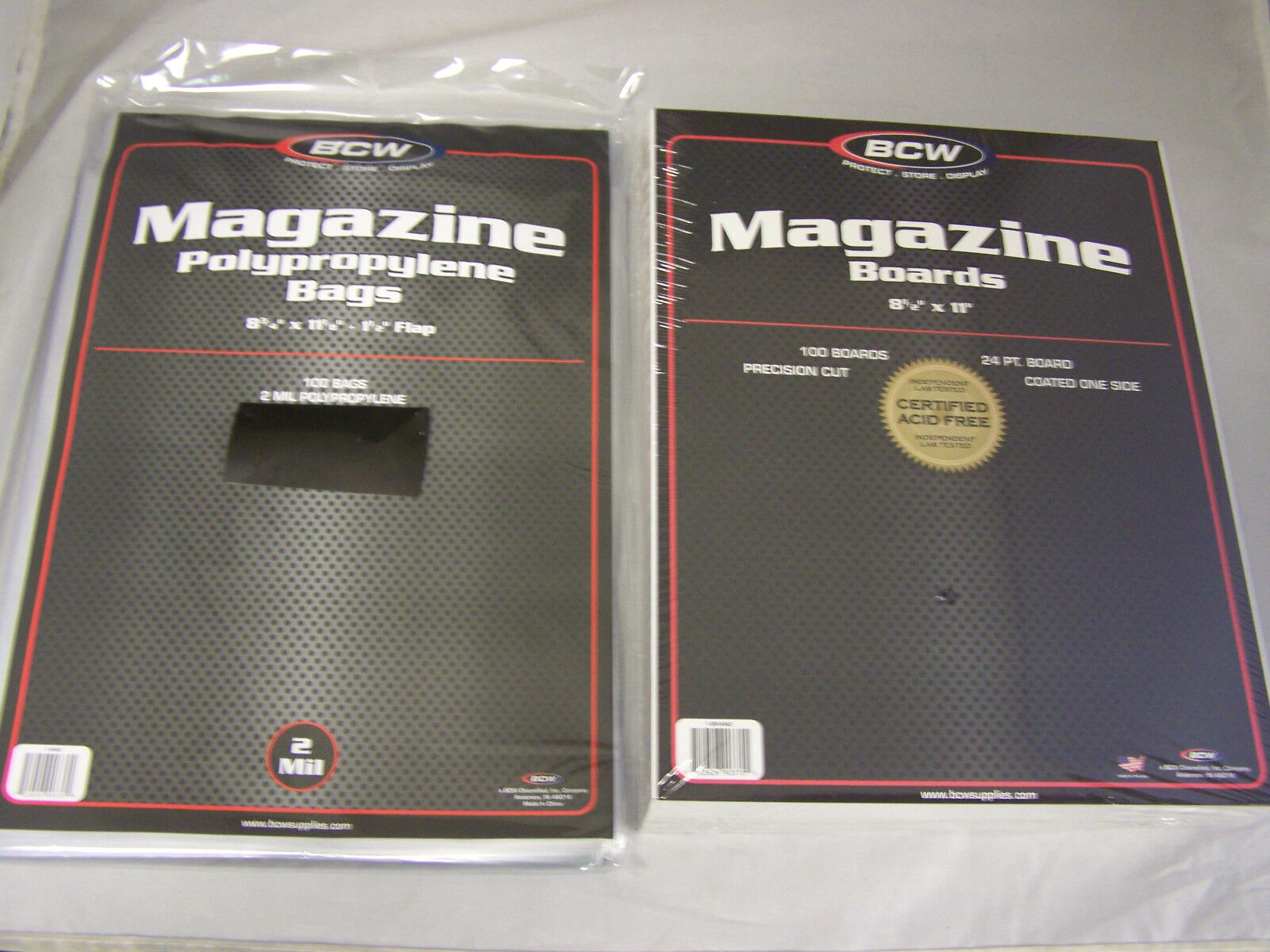 8 3//4 X 11 Case of 1000 BCW RESEALABLE Acid Free Magazine Poly Bags Archival