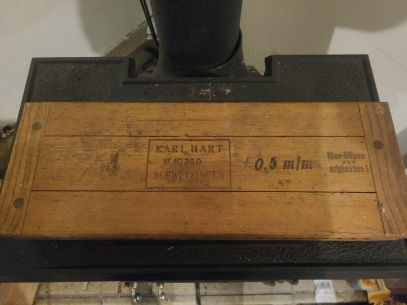 Vintage Antique Karl Hart Cigar Press Mold No 10380 10.5 Perlu-Form Schwetzingen